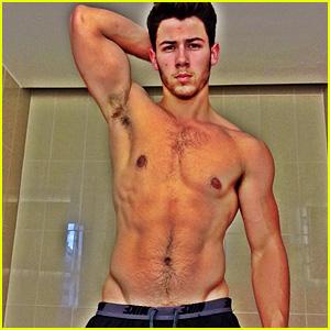 nick-jonas-goes-shirtless-in-buff-post-workout-photo